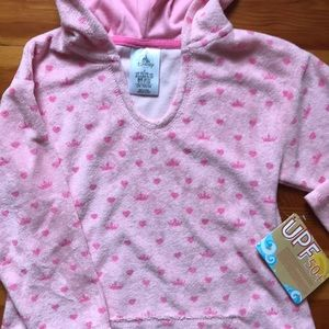 Disney terry hooded cover up NWT 3T
